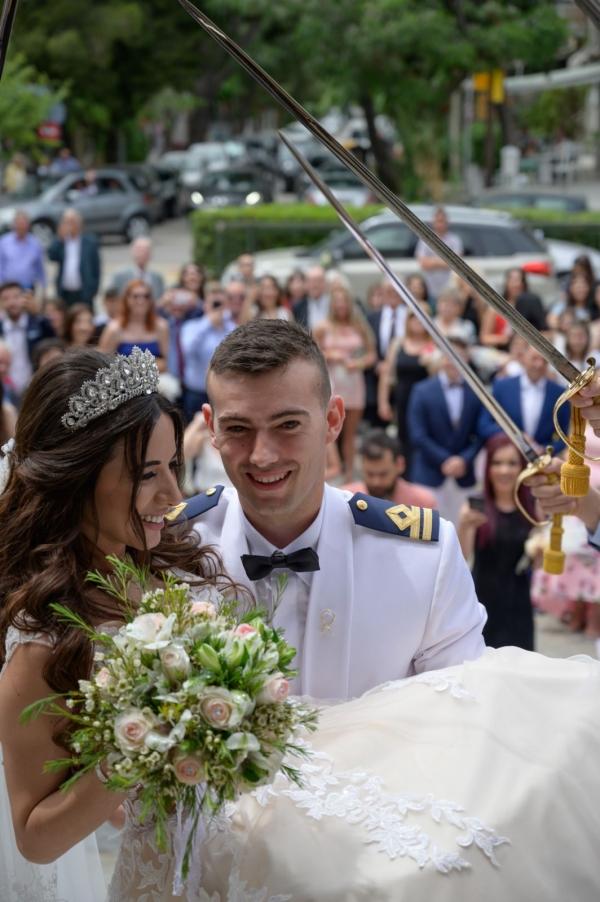 Στολισμός στρατιωτικού γάμου
