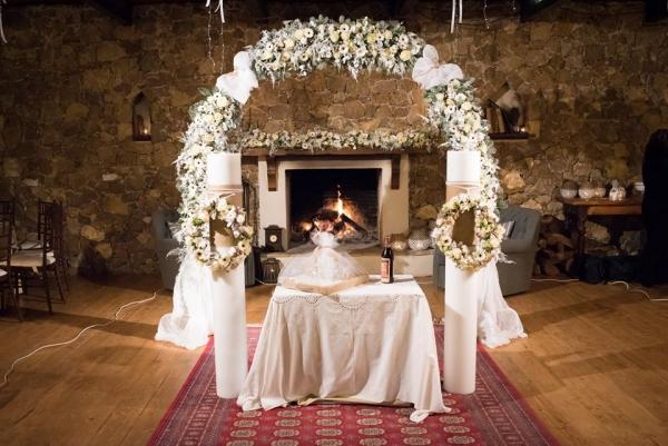 Στολισμός χειμωνιάτικου γάμου